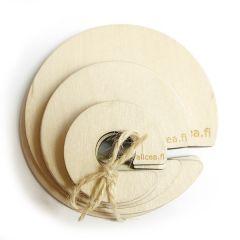 alice a puinen tupsukiekkosetti 3 kokoa