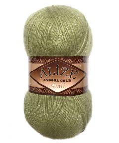 Alize angora gold simli glitter knitting yarn