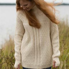 Pattern jumper with pockets