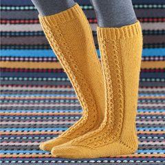 Ohje: Keltaiset polvisukat