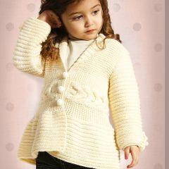 Ohje tytön luonnonvalkoinen neuletakki