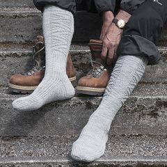 Neuleohje neulotut miesten villasukat Saapassukat