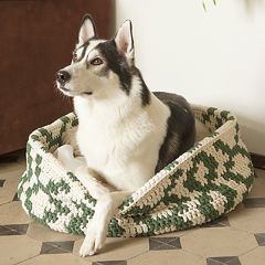 Crochet patterns crocheted basket for pets