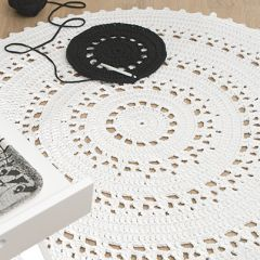 Crochet pattern crocheted rug Aura