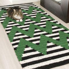 Virkkausohje virkattu matto Geometri