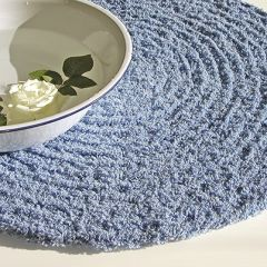 crochet rug step on