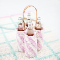 Pattern Molla Mills crochet bottle carrier