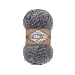 Alize superlana midi pullu yarn with sequins