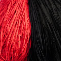 T-shirt yarn (cotton tricot), 5 kg assortment-22 Black and Red