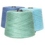 Line linen yarn dyed