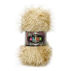 Alize decofur sim faux fur yarn with glitter
