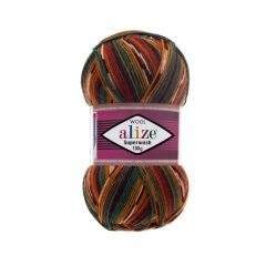 alize superwash brokig sockgarn