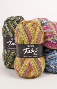 Drops fabel print sock yarn