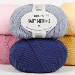 Drops baby merino wool yarn