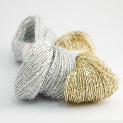 Sparkly and fluffy paper yarn 200 g
