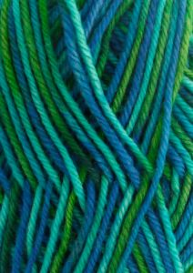 Lykke superwash sukkalanka liukuvärjätty vihreä