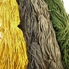 Trikåtrasor, set 5 kg-24 Grönsiska (gröna nyanser med gul)
