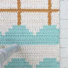 Molla Mills crochet arch rug