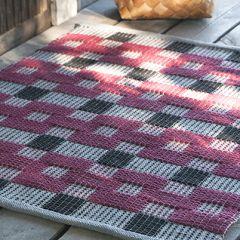 Ohje: Kudottu Punamulta-matto