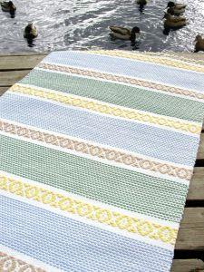 Ohje: Kudottu Ruusuraita-matto