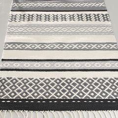 Weaving pattern folk dance rug