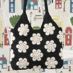 Free crocheting pattern African Flower crochet bag