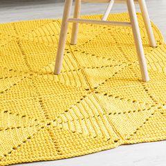 Ohje: Virkattu keltainen palamatto