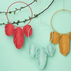Free Pattern Macrame Feather Dream Catcher