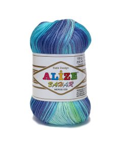 Alize Bahar Batik mercerised cotton yarn