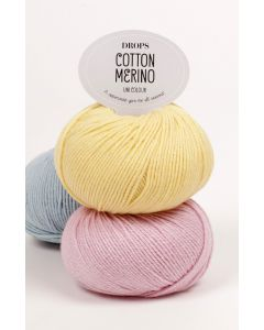 Drops cotton merino merioull bomullsgarn