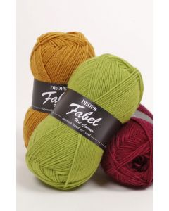 Drops fabel uni colour sockgarn