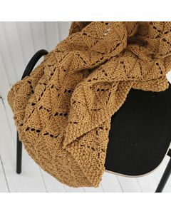 free pattern yellow knitted blanket