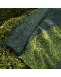 Gratis mönster: Vävd mohairfilt i skogens färger
