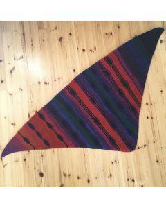 Ohje: Neulottu ovaalikuvioinen kolmiohuivi