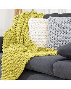 Ohje: Neulottu Mini-tyyny ja- torkkupeitto