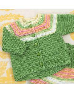 Neuleohje neulottu vauvan nuttu ja housut