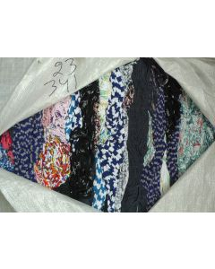 Cotton tricot in hanks, printed, bale 23 / 341 kg