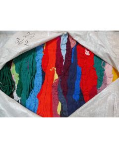 Cotton tricot in hanks, bale 27 / 362 kg