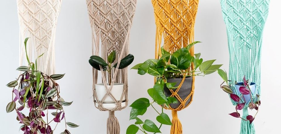 Macrame yarns, patterns and accessories
