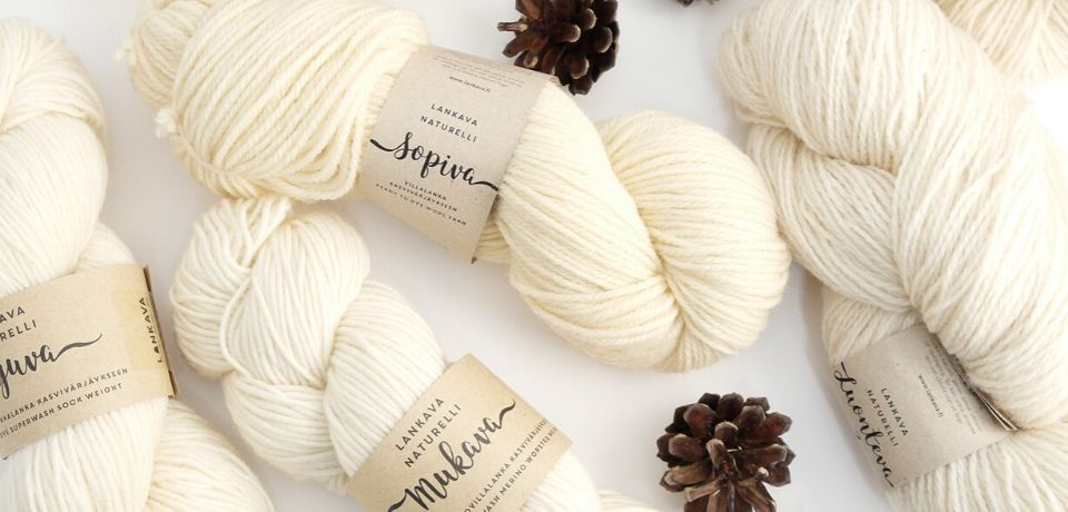 Lankava Naturelli Ready To Dye yarns